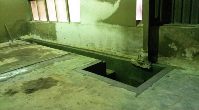 台中工業區廠房 – 地坪集沙坑