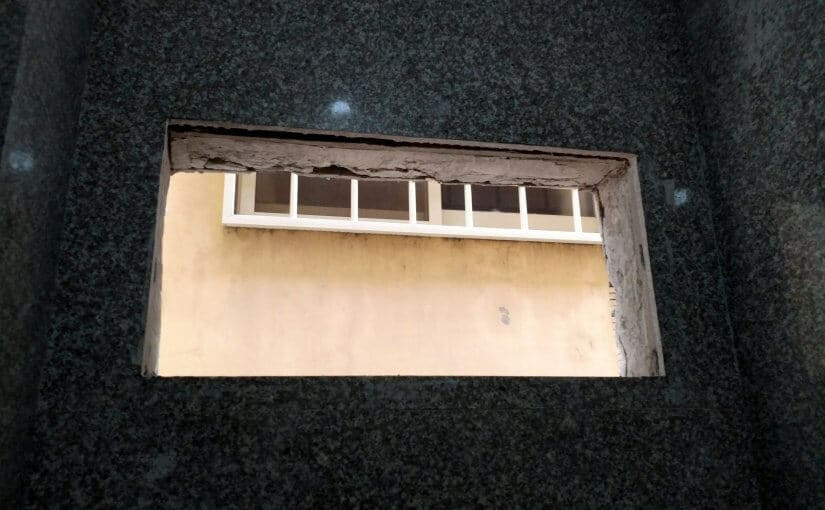 廁所牆面石材開窗工程