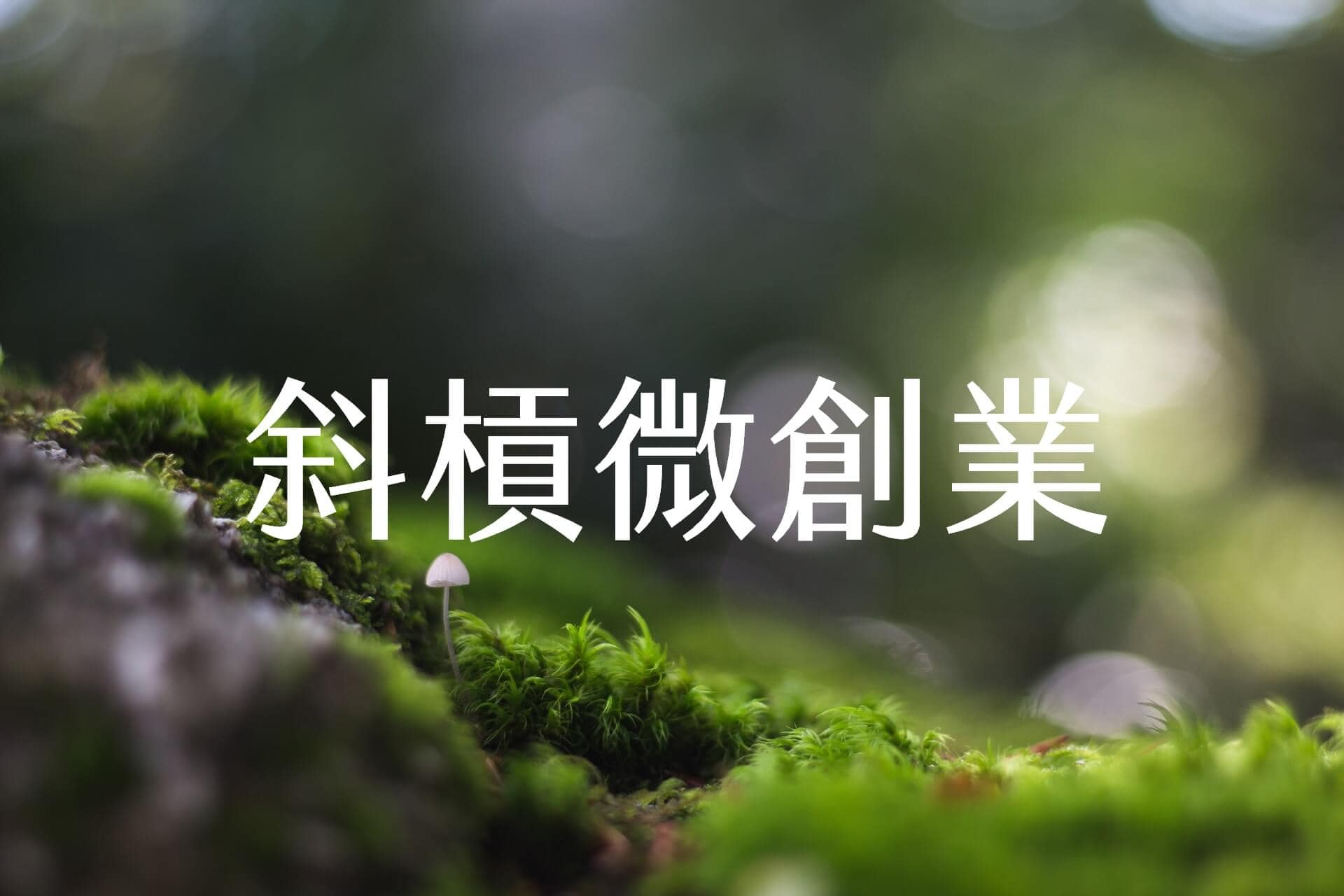 【嘉鴻筆記】斜槓微創業 1