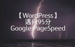 【WordPress】邁向95分 Google PageSpeed 1